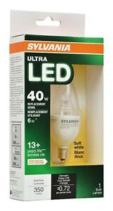 SYLVANIA 40W Equivalent Dimmable Candelabra LED Bulb - Soft Whit