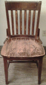 """2 """"Vintage Oak Wood Chairs"""" for sale"""