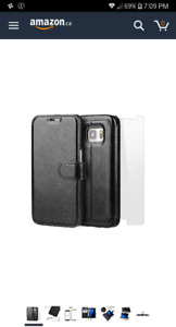 S7 Leather Wallet Case