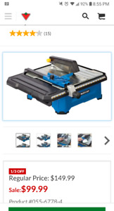 Wet Tile Saw ..never used!!!