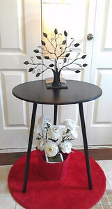 Rustic Black Beauty! Refinished Side Table