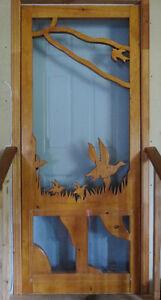 Superbe Porte D'écran - Pour la maison, chalet ou cabine!