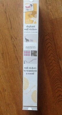 Elephant Wall Stickers From The Tusk Range At Mothercare...bnib