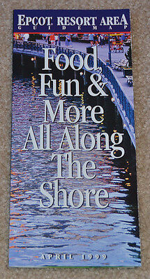 April 1999 EPCOT Resort Area Guide Map DISNEY'S BOARDWALK Yacht and Beach Club
