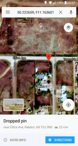 100 X 120 ft Lot in Suffield Ab