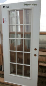 New Steel Door Slabs with Doorlites Only - Sizes Vary – $ 95.00