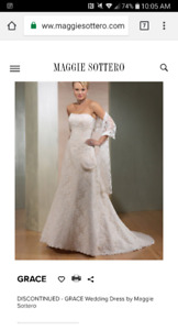 Maggie Sottero The Grace wedding dress size 14