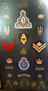 25 Pay corps military Patch's framed nice set framed