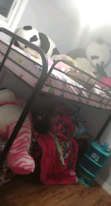 Twin size bunk bed.