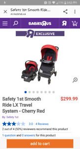 Safety First Car seat and Stoller with base