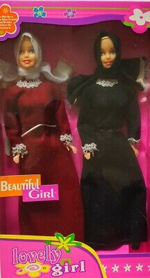 Two Muslim Dolls Fulla Dolls Hijabi Dolls Islamic Dolls Abaya Dolls Barbie Shoes