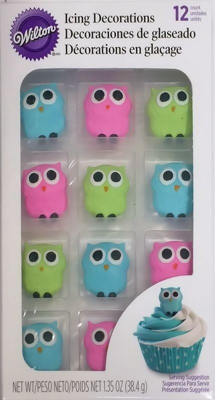 Cute Owl Royal Icing Decorations 12 ct from Wilton 6022