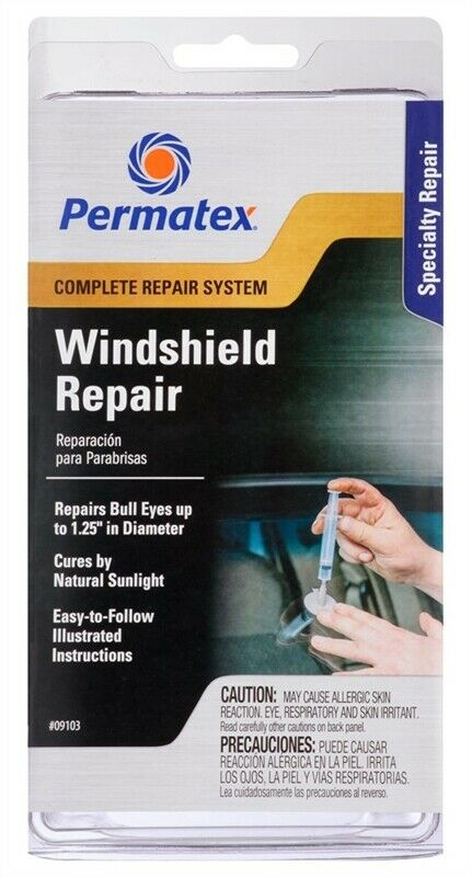 NEW Permatex 09103 Windshield Repair Kit with instructions CLEAR 2884161