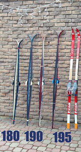 Cross Country Skis FOR SALE Sizes 180cm to 195cm March Break Fun