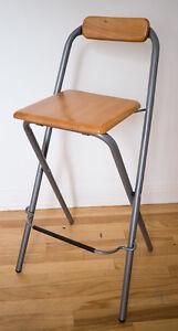 Ikea bar chair / wood and metal
