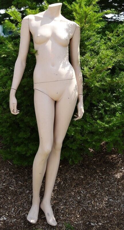 Vintage Full Size Lady Mannequin 1950s 1960s * AS IS