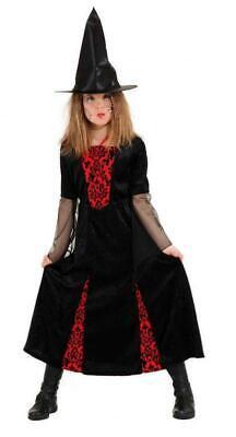 Hexe Hexenkleid Kostüm Kleid Witch Zauberin Vampir Kinder - Kind Hexer Kostüme