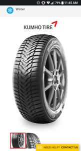 Kumho Wintercraft Ice WP51 Tires 185/55R15 86H For sale