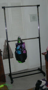 2-Tiered Clothing Rack on Casters