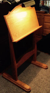 Music Stand Solid Oak