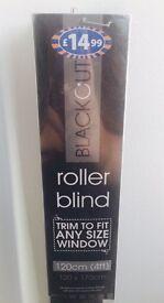 BNIB Black Blackout Roller Blind