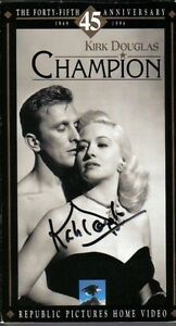 Kirk Douglas Autographed The Video Champion