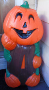 "Halloween Blow Molds Rare ""Mr Pumpkin Man"" Christmas Too!"