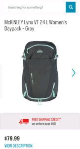 Brand new McKinley day pack / backpack