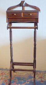 Valet Stand/ Suit Butler Mahogany Colour