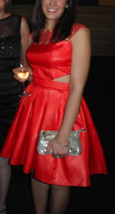 Gorgeous coral red formal dress