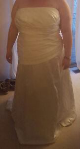 Plus size wedding dress.
