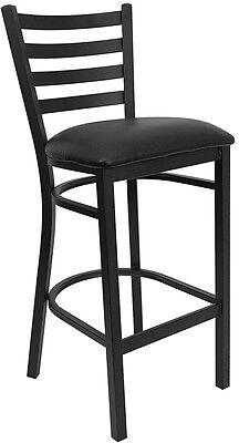 Flash Furniture HERCULES Series Black Ladder Back Metal Restaurant Barstool...