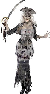 Zombie Geisterschiff Piratin NEU - Damen Karneval Fasching Verkleidung - Schiff Kostüm