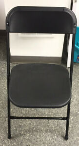 Black Commercial Stackable Folding Chair - Brand New - For Sale
