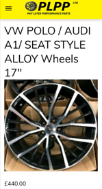 Audi stlye OEM Alloy wheels 17''
