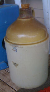 large old crock jug