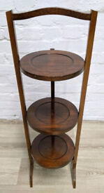 Vintage Oak Cake Stand (DELIVERY AVAILABLE)