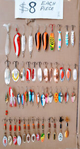 FISHING LURES FOR SALMON & TROUT. $8 A PIECE