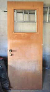 Solid Wooden Exterior Door