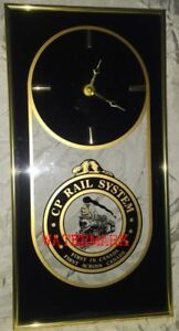 CANADIAN PACIFIC RAILWAY MARKED WALL CLOCK WITH BEAVER
