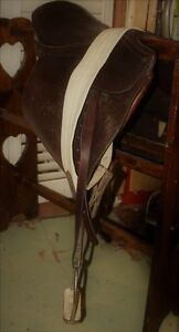 JORGE CANAVES ENGLISH DRESSAGE SADDLE AND LEATHER GIRTH AND STIR