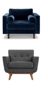 New Modern Mid Century Big Living room Accent / Arm Chairs