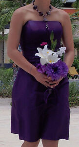 Purple Prom or Bridesmaid Dress - Size 10