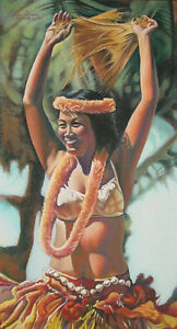 HARRY BURKE'S TAHITIAN DANCER & VIETNAMESE LADY WITH GOURDS