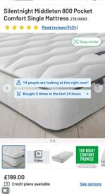 Single mattress & bedframe