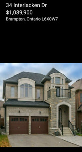 3100 sq ft Detached House for sale in Brampton for 1,089,900