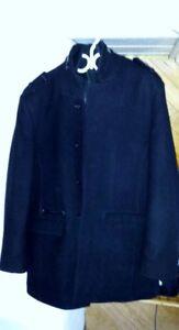 Manteau en  laine noire TRISTAN