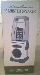 Eddie Bauer iCanister MP3/iPod Water-Resistant Speaker - White