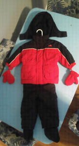 Toddler Alpinetrek 2 piece snow suit with booties & gloves