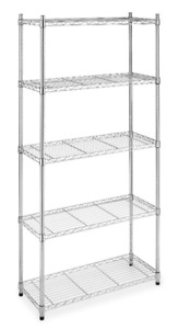 ☆Moving Out Sale☆ 5 Shelf Chrome Steel Storage Rack - Almost New